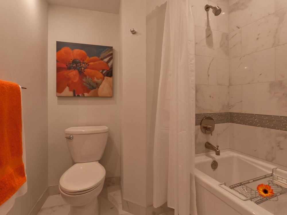 Ocean Front Condo Interior Design Bathroom