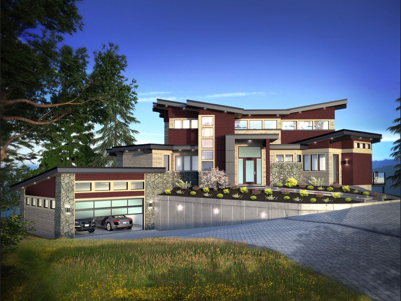 Custom home design projects step one design for West coast home plans