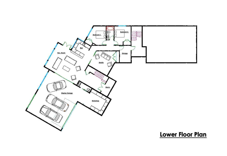 Custom Floor Plans - Lower - Victoria BC