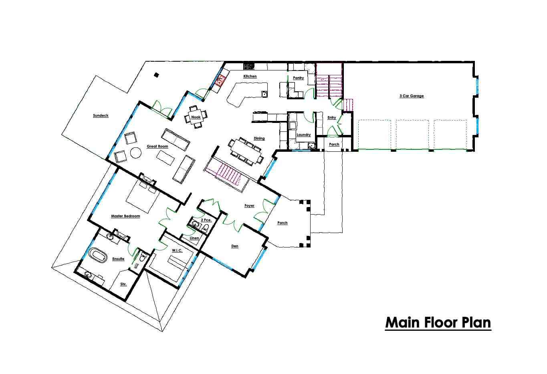 Custom Floor Plans - Main - Victoria BC