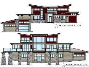 West Coast Contemporary Home Elevations