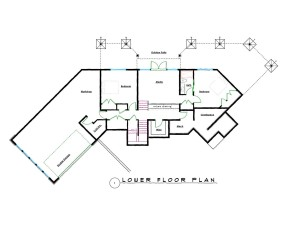 West Coast Contemporary Lower Floor Plans