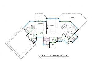 West Coast Contemporary Home Main Floor Plans