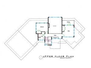 West Coast Contemporary Home Upper Floor Plans