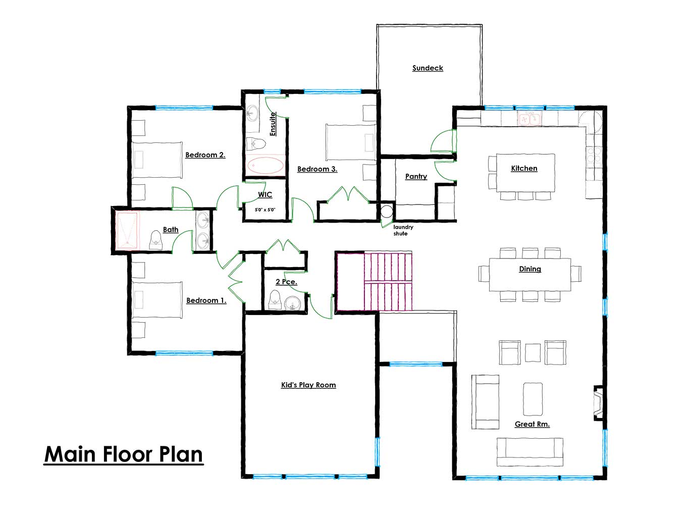 Navigators Main Floor Plan