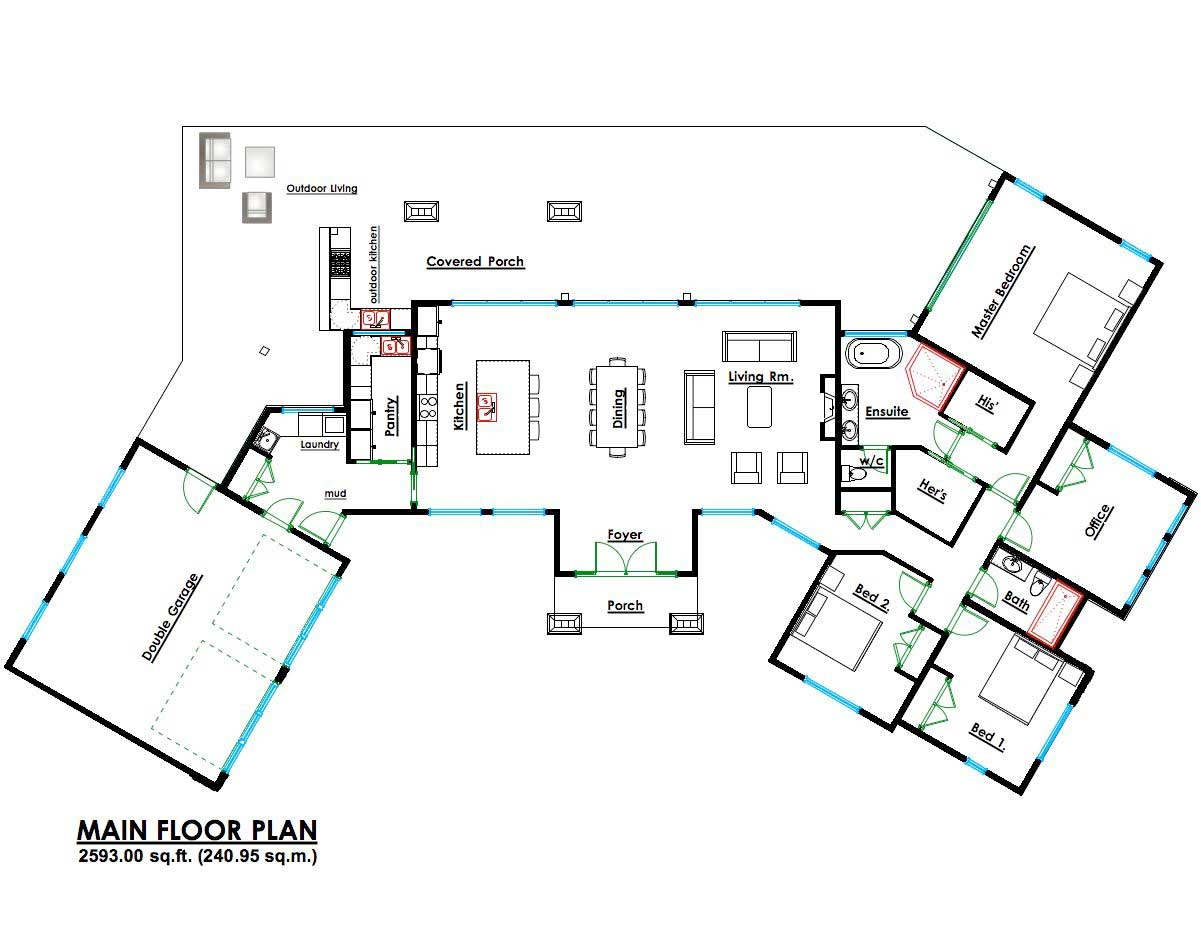 Contemporary Home Design Floor Plans